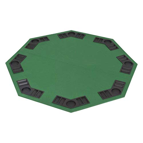 Ciaf Tablero de Poker Plegable para 8 Jugadores Octogonal Color Verde