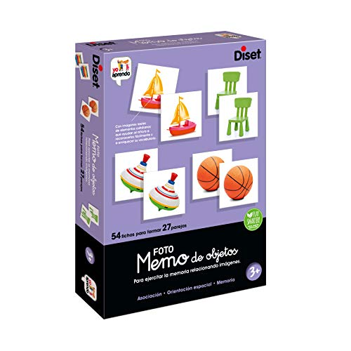 Diset- Memo Photo Objects Juego Educativo para Niños, Multicolor (68946)