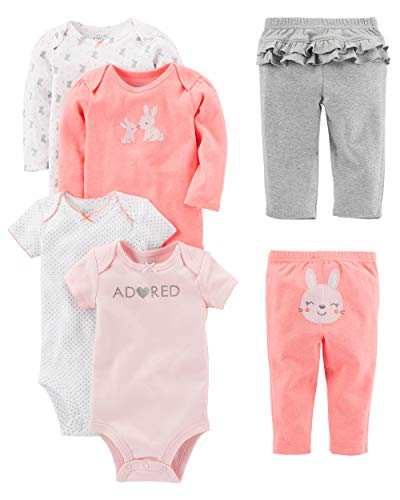 Simple Joys by Carter's Infant-and-Toddler-Pants-Clothing-Sets, Conejito Rosado, 24 Meses